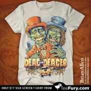 Dumb and Dumber Zombie Tribute Silk-Screen T-Shirt