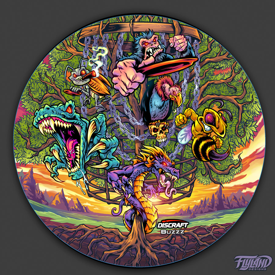 Discraft vulture, raptor, gorill