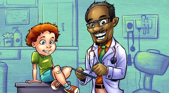 Caricatures for Doctors Office W