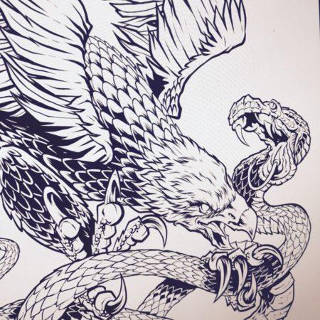 Detailed line art for tattoos