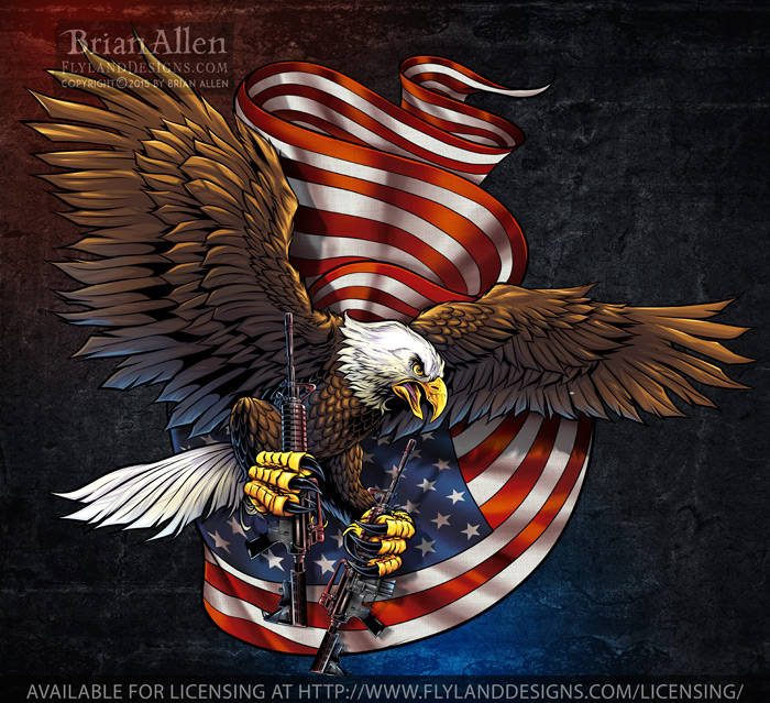 Patriotic Design of and Amercian