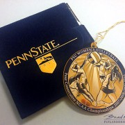 Christmas ornament illustrating PSU Women's Volleyball NCAA Championship