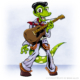 Gecko elvis cartoon character