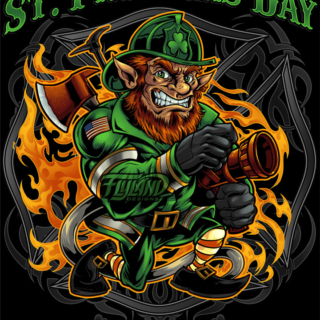 FireFighter Leprechaun holding