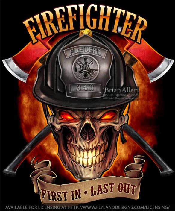 T-Shirt template of an evil fire