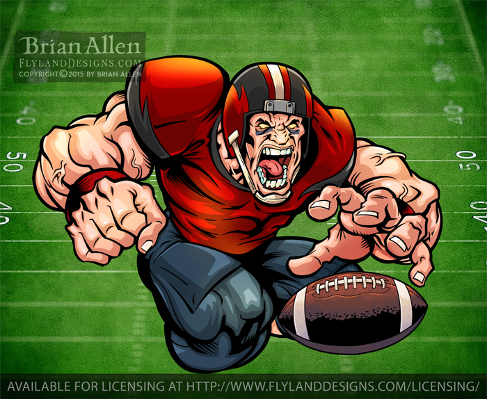 angry football player Mascot