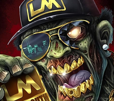Gangster Zombie LoudMouth Gloves
