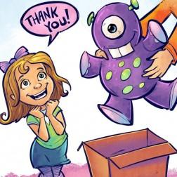 Children's Book Illustration of kids doing different activities