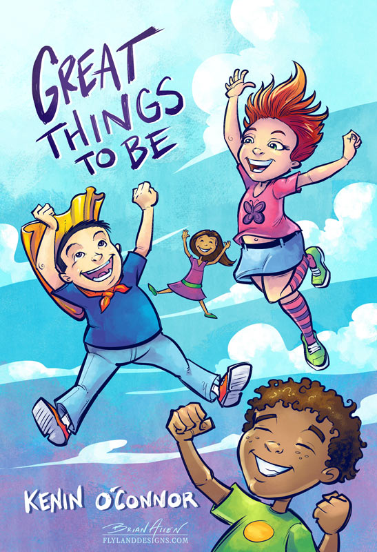 Children's Book Illustration of kids doing different activities