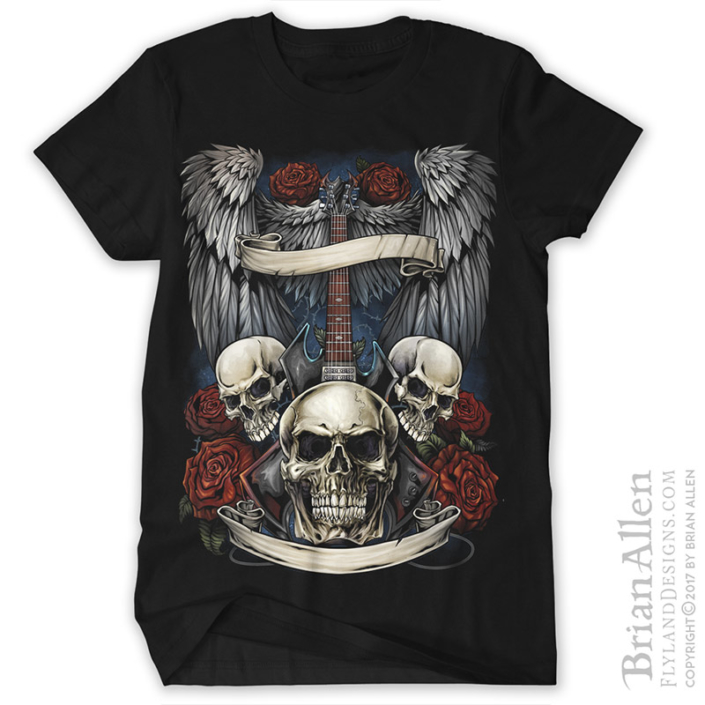 Dark heavy metal t-shirt design