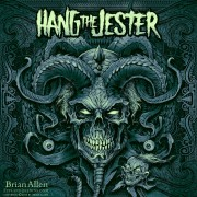 Evil skull jester album cover illustration