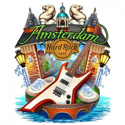 Hard Rock Cafe T-Shirt design of Amsterdam