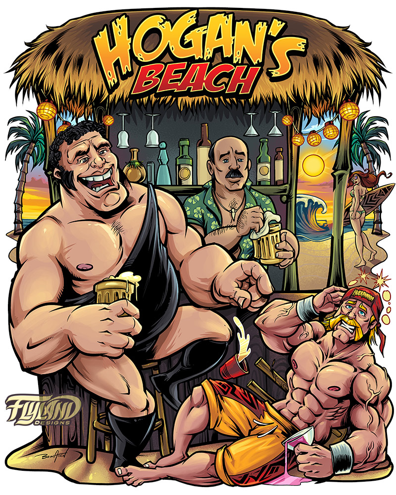 Hulk Hogan and Andre the Giant c