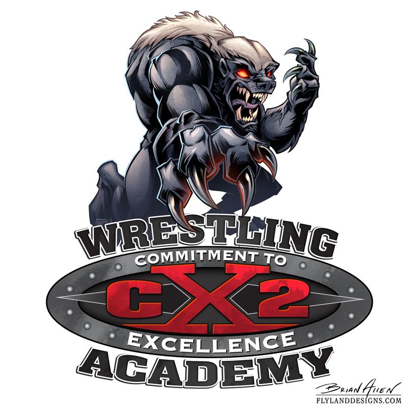 Honey Badger Wrestling Mascot