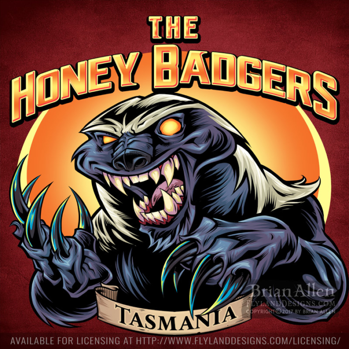 logo design of a honey badger wi