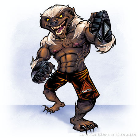 Mascot character of MMA honeybad