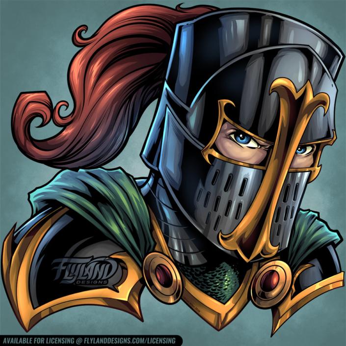 Crusader head in a knight's meta