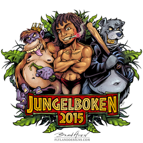 Russebuss Jungle Book Parody Logo