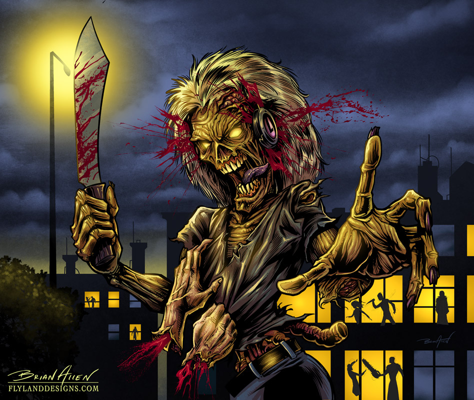 Iron Maiden Killers Tribute Illustration