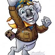 Macot Character Design of a Koala Bear for travel