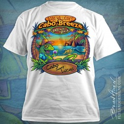 Custom illustration I created for a line of T-Shirts for a series of beach bar t-shirts.