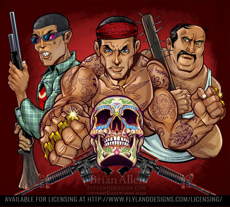 illustration of an armed hispani