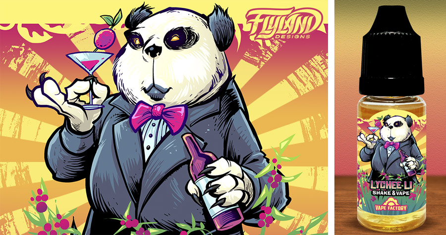 Sophisticated panda standing in