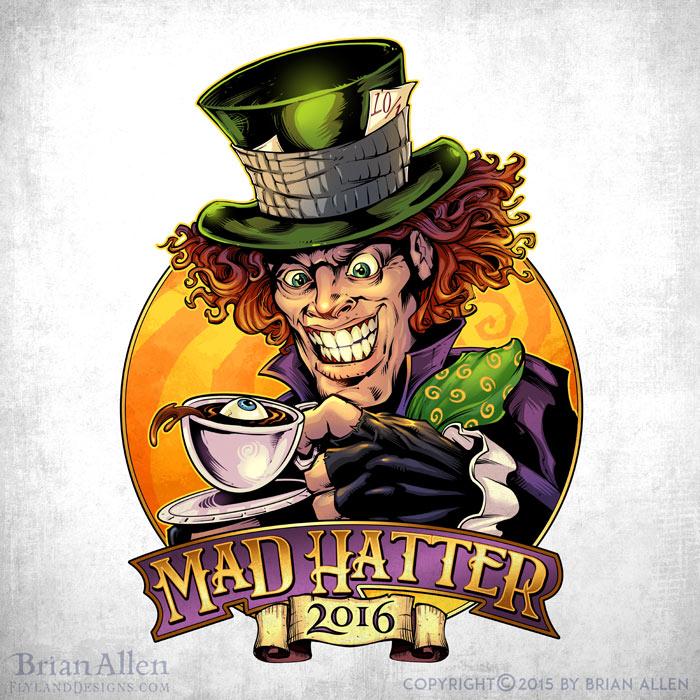 Illustration of an evil Mad Hatter