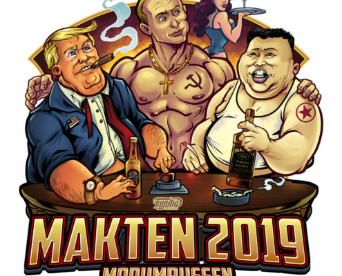 Trump, Putin, Kim Jun Un hanging