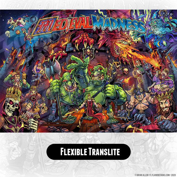 Alternate pinball translite for