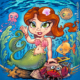 Young girl mermaid underwater t-
