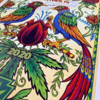 Two Dutch Folk Art inspired bird