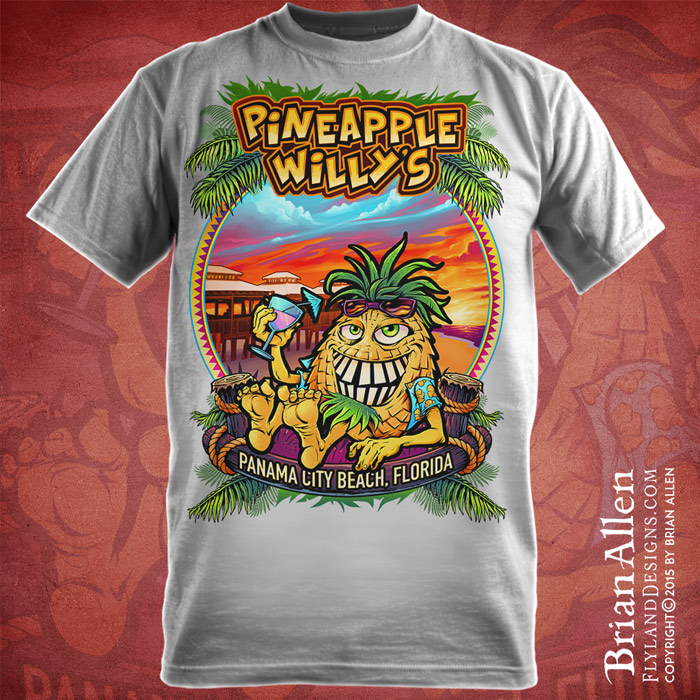 Pineapple Willy S Beach Resort T Shirt Flyland Designs