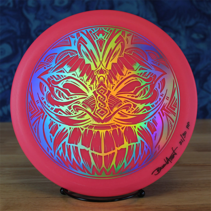 Limited Edition artwork by Brian Allen printed on Disc Golf Discraft discs printed by Detroit Disc Company