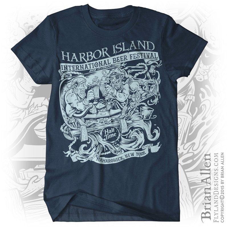 T-shirt design of two pirates in