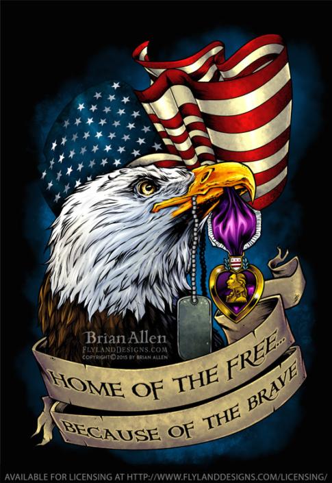 Patriotic illustration of a bold