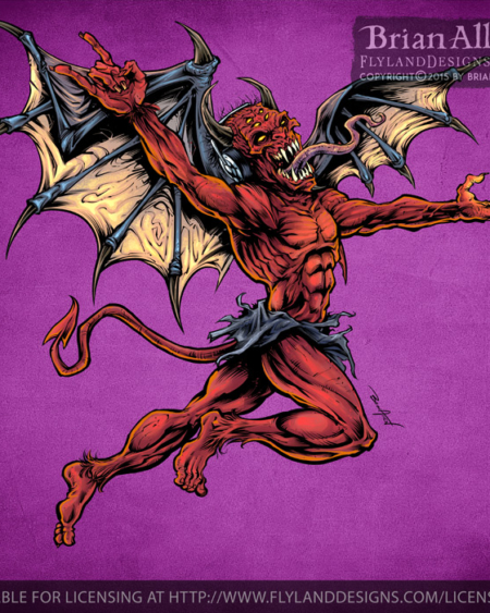 Illustration of a Red Devil with