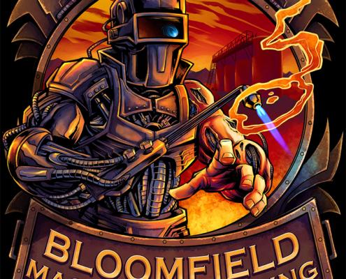 Cyborg Welder T-Shirt Illustration