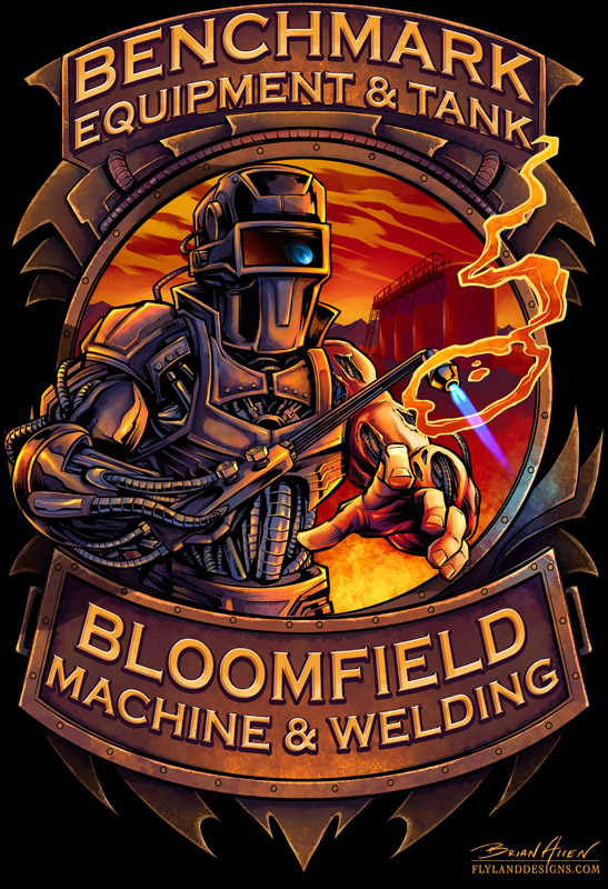 Cyborg Welder T-Shirt Illustration