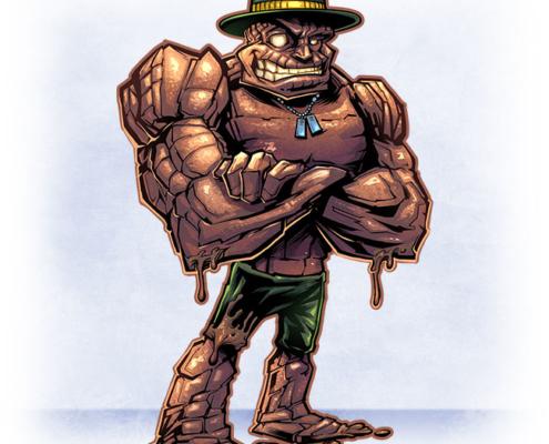 Rock General Mascot Design