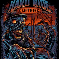 T-Shirt illustration of Zombies in a Bakken oil field I created for Hard Ride Clothing.