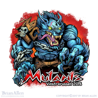 russ logo of a mutant werewolf w