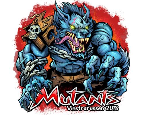 russ logo of a mutant werewolf w