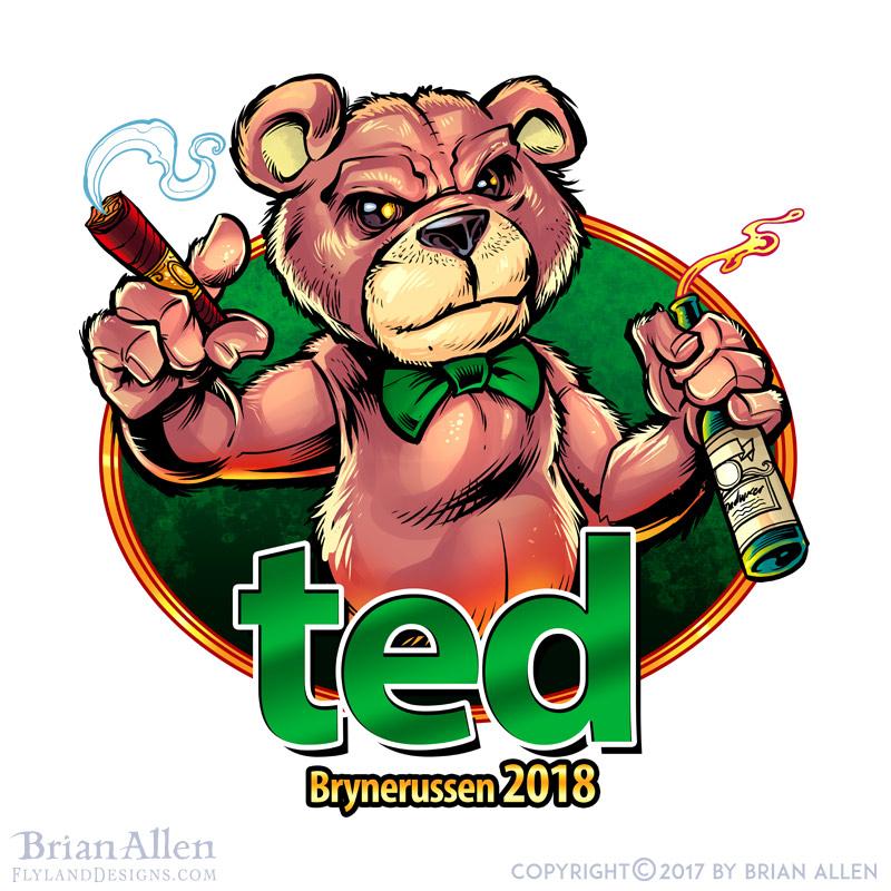 russ logo of the teddy bear from
