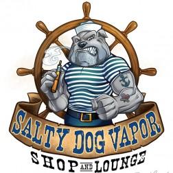 Logo design of a sailor bulldog using a vaping device