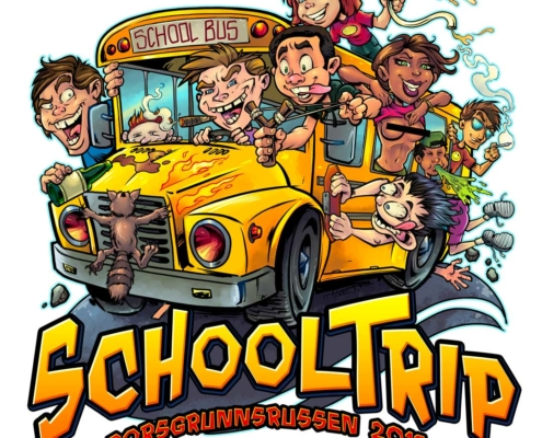 Bad kids drive a school bus choc