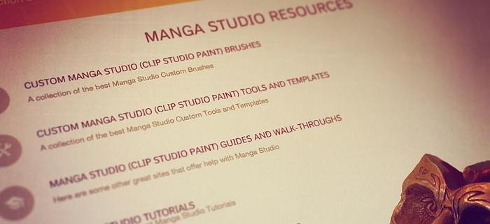 Manga Studio Resources Page
