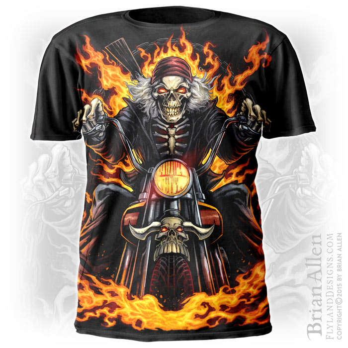 e58672ba Skeleton Rider T-Shirt Design - Flyland Designs, Freelance ...