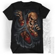 Illustration of evil skeleton ri