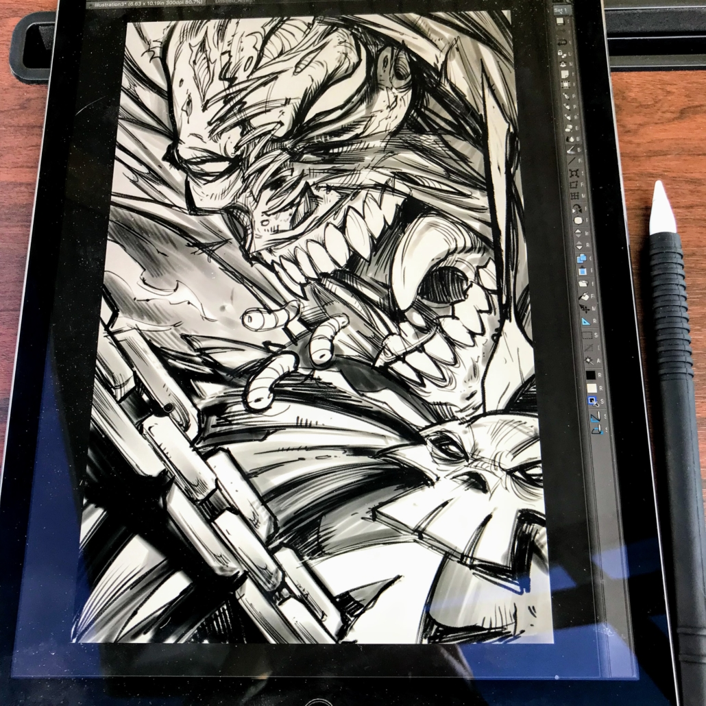 Spawn Tribute Illustration for 25th Anniversary Book